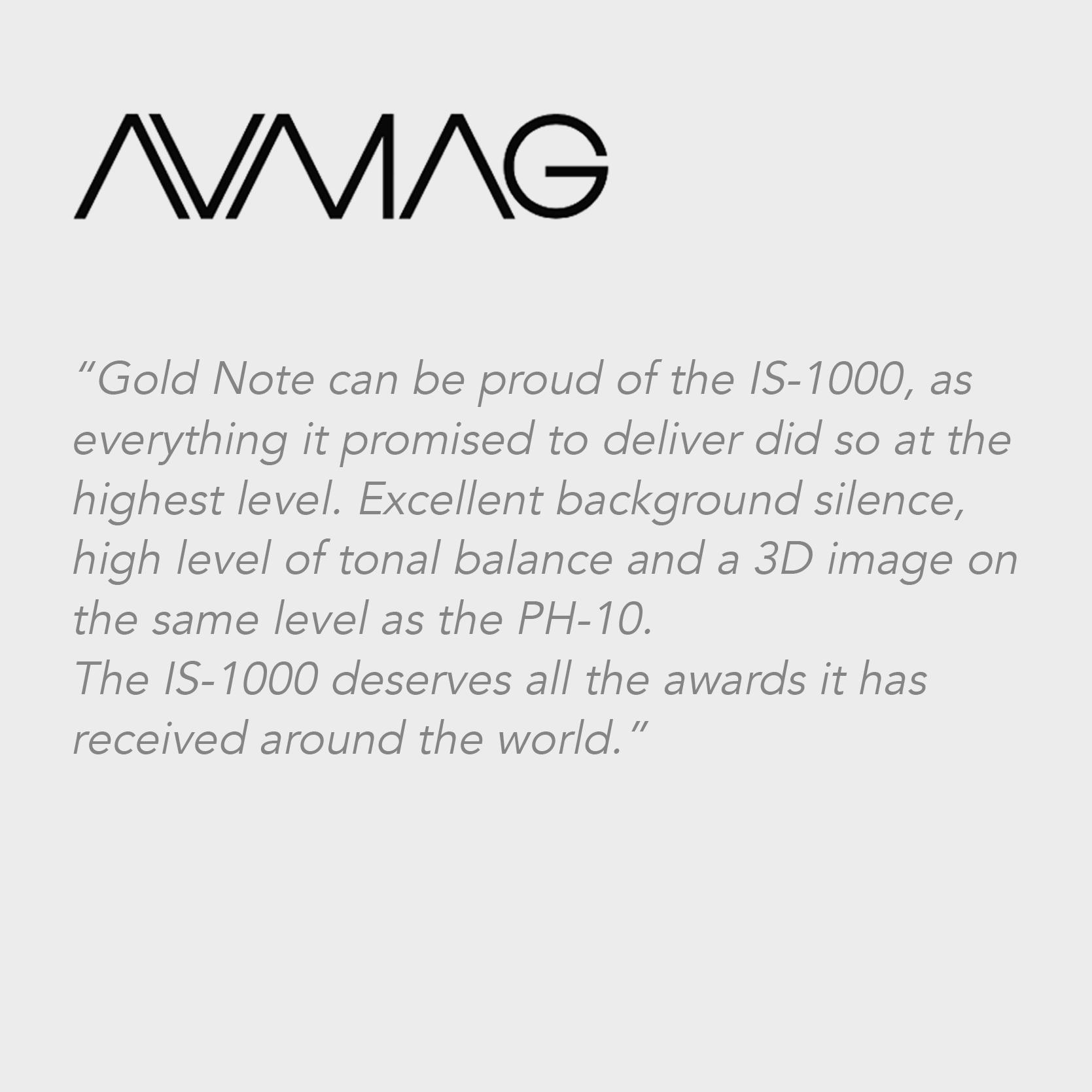 Audio Video magazine | IS-1000
